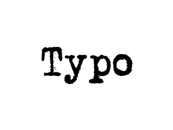 Free Typo Discount & Voucher Codes -